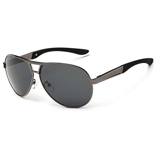 Polarized Jewelry Drivers (SRANDER Wayfarer Metal Frame Sunglasses Eyewear Polarized UV400 Driving Glasses Mens/GG)