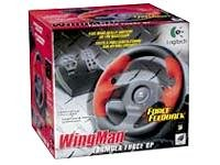 Logitech WingMan Formula Force GP - Wheel and pedals set - 4 button(s) (Logitech Wingman Formula Force Gp Wheel With Pedals)