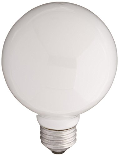 Sylvania Lighting 60W/WHITE/G25 White Globe Light Bulb 60watt(pack of - Globe Bulbs 60 Watt