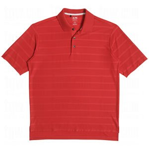 Adidas Mens Climacool Energy Textured Solid Polo Shirt (Large, University Red) ()