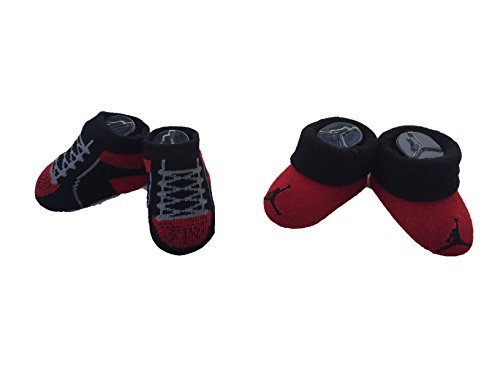 Jordan Nike Graphic Infant 2 Pair Booties (0-6 Months, University Red (IJD4642-297) / Black/Black)