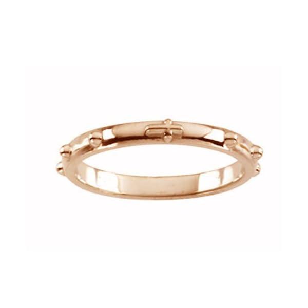 10k-Rose-Gold-250mm-Rosary-Ring