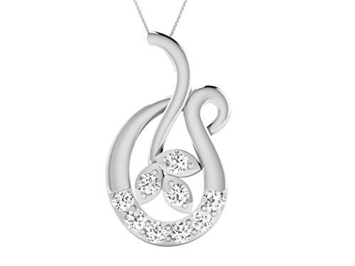 Or Blanc 18 ct Pendentifs Diamant , 0.14 Ct Diamant, GH-SI, 1.01 grammes.