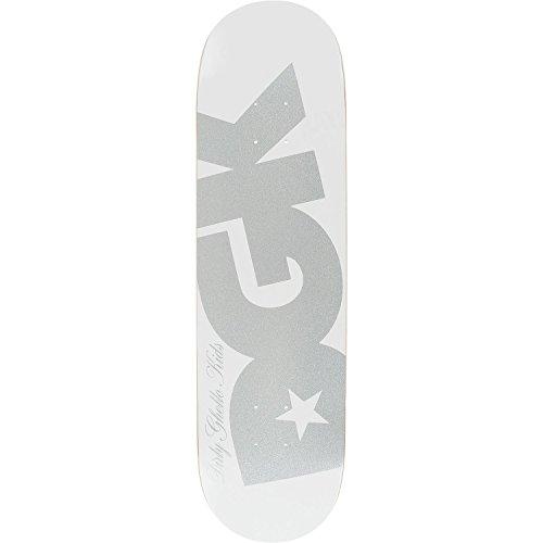 呼吸する手当広範囲にDGK Shimmerスケートボードデッキ- 8.25ホワイト/シルバーデッキのみ(ハードウェアフリー1