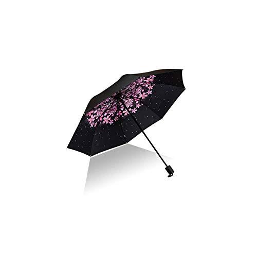 Cherry Blossom Cute Lady Umbrellas Rain Women Pink Flower Sun UV Protection Adult Windproof Umbrella,Style 8 ()