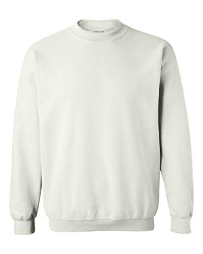Joe's USA - Soft & Cozy Crewneck Sweatshirts - in 33 Colors. Sizes S-5XL White