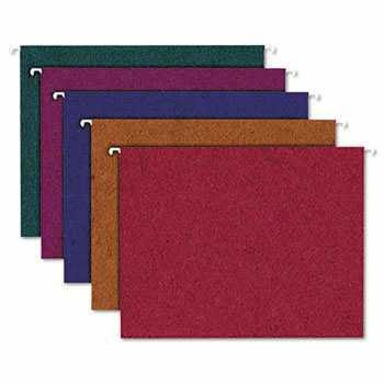 Bulk Hanging File Folders in Assorted Colors, Recycled: Ampad Tops 35117 (5 Boxes of Hanging Folders)