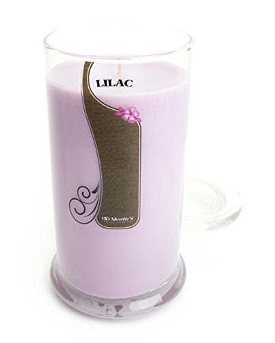 Pure Lilac Candle - Large Purple 16.5 Oz. Highly Scented Jar Candle - Made with Natural Oils - Flower & Floral Collection