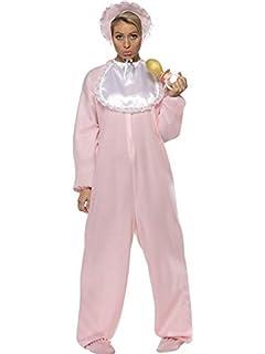 c4ee8629412 Party-Teufel Komplett Kostüm Damen Riesenbaby mit Strampler  Schlabberlätzchen Baby Schlafmütze Riesen Quietsche Schnuller Schlafmütze