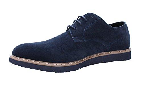 Scarpe uomo casual blu scamosciate polacchine mans shoes eleganti