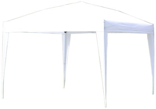 Palm Springs Outdoor Ez Pop Up Canopy New Gazebo No Sidewalls (White, 10-Feet x 10-Feet), Outdoor Stuffs