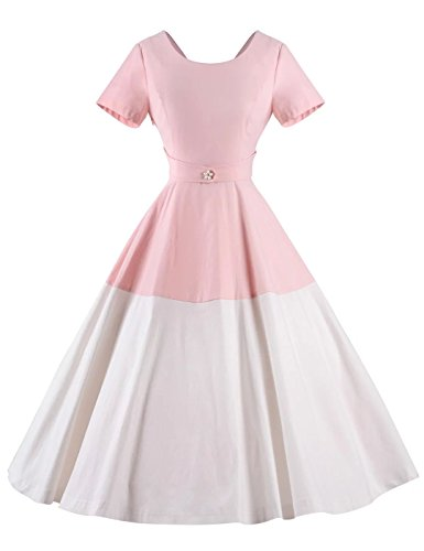 GownTown-Women-Splicing-Swing-Dress-Party-Picnic-Cocktail-Dress