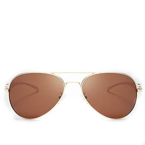 Lunettes Golden de Frame Glass Soleil Soleil Hommes Black Glass pour New Coating Frame de Lunettes Head Lens polarisées Yiyepoetry Brown Color Lens Leopard Golden AZwx0Hqw8