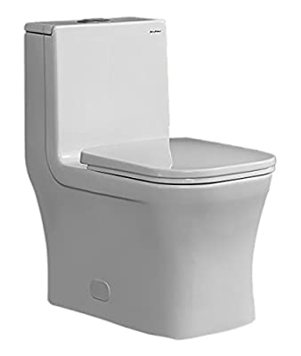 Swiss Madison SM-1T106 Concorde Square Toilet Dual Flush , Soft Closing Quick Release Seat Included, 0.8/1.28 Gpf