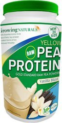 Growing Naturals Pea Protein Powder - Vanilla - 33.5 oz