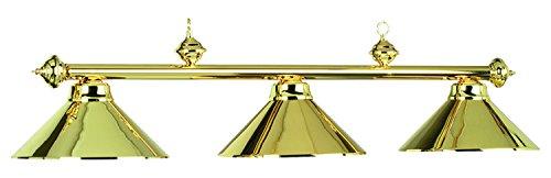 54In. 3Lt Billiard Light- Polished Brass