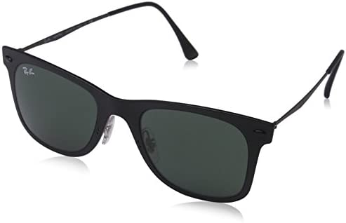 bc0c2f74af Amazon.com  Ray-Ban Mens Light Ray Sunglasses (RB4210) Black Matte ...