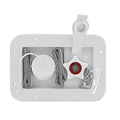 Valterra A01-2001VP Gravity/City Water Inlet - White (Carded): Automotive
