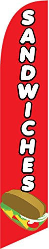 (Sandwiches 15ft Feather Banner Swooper Flag -Windless Design- REPLACEMENT)