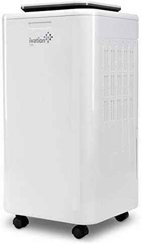 Ivation 11 Pint Small Compressor Dehumidifier – with Continuous Drain Hose for Smaller Spaces, Bathroom, Attic, Crawlspace and Closets – for Spaces Up to 216 Sq Ft