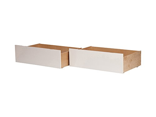 (Atlantic Furniture AE663142 Urban Bed Drawers, Queen-King, White)