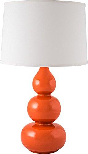 RiverCeramic 015-51 Triple Gourd Gloss Paprika Table (Chrome Triple Light Table Lamp)