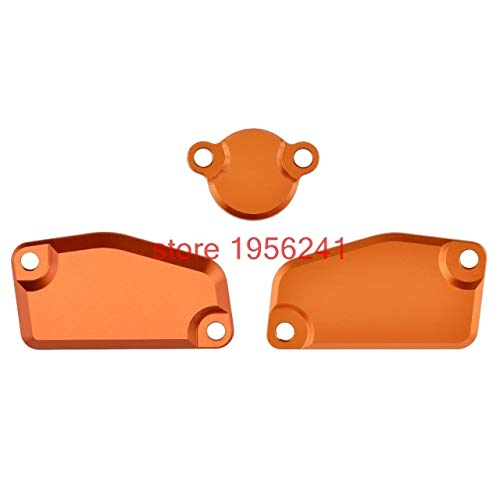 Jacana Boutique CNC Front & Rear Brake Clutch Master Cylinder Reservoir Cover Cap Guard Protector Set For KTM 65 85 SX 200 XCW XC-W 250 Freeride ()
