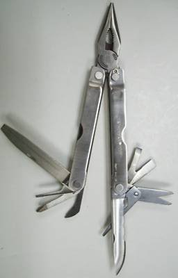 Leatherman PST II Standard Stainless Steel Finish W leather Sheath.