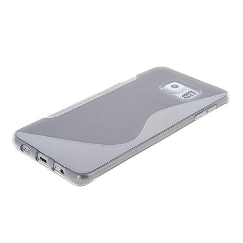 MEIRISHUN Caja del Teléfono Celular Caso Funda, Soft TPU Protector Case,Anti-scratch Silicone Back Cover Contraportadapara Samsung Galaxy S6 edge+ [Gris] Gris