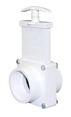 "Valterra 4207 PVC Gate Valve, White, 2"" FPT by Valterra Products"