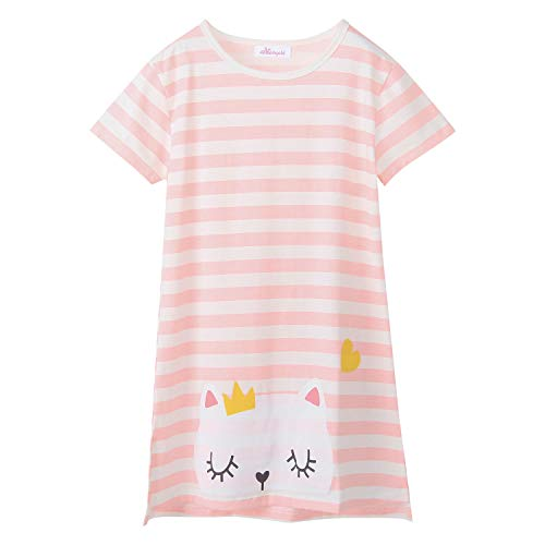 Little Girls' Kitty Nightgowns Cat Sleep Shirts Cotton