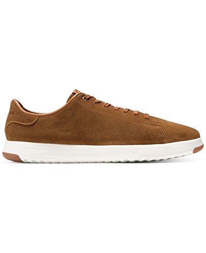 Cole Haan Mens Grandpro Tennis Moda Sneaker Bourbon In Camoscio Oliato 10,5 M Us