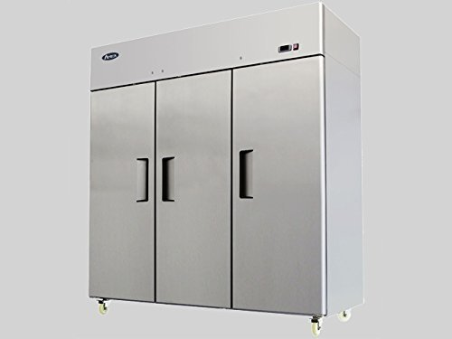 "78"" Triple 3 Door Side By Side Stainless Steel Reach in Commercial Refrigerator, MBF-8006, 72 Cubic Feet, for Restaurant"