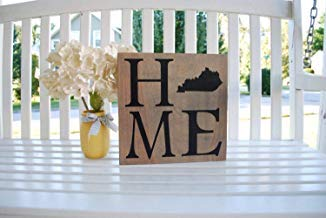 Ca565urs Kentucky Home Cartel de Madera rústico para ...