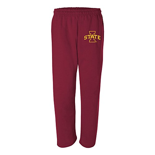 (AB02 - Iowa State Cyclones Primary Logo Sweatpants - Small - Cardinal)