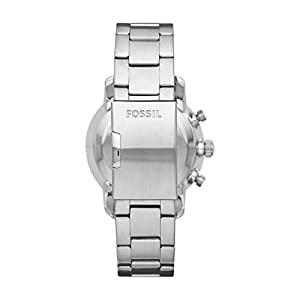Fossil Men's Hybrid Smartwatch Watch with Stainless-Steel Strap, Silver, 22 (Model: FTW1173)