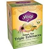 Yogi Tea Co Organic Triple Echinacea Green Tea 16 Tea Bags Per Box Pack Of ...