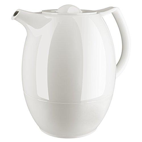 Emsa 503692 Tee-Isolierkanne mit Aroma-Teesieb, 1 Liter, 100% dicht, Weiß, Ellipse