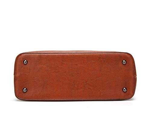 colore Brown Elegante Capacità Brown Allhm A Multi Borsa tasca Minimalista Tracolla Dimensioni Onesize pwqyUy8BgZ