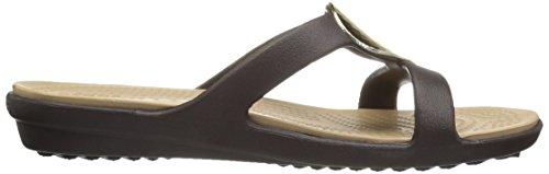 Crocs Sanrah Embelished Sandal Femmes US 10 Brun Tongs