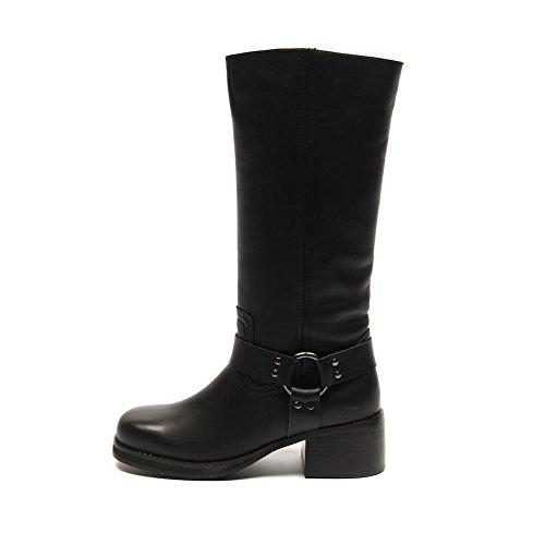BLU SHU Boots Black Faux Leather Heel Size 36 / UK 3 SB 510 B8TxD7mlD