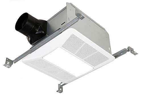 KAZE APPLIANCE SE90TL2 Ultra Quiet 90-CFM 0.3-Sones Bathroom Exhaust Fan with LED and Night Light, White,