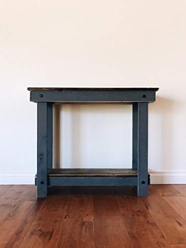 "Rustic Handcrafted Reclaimed Console Table - Self Assembly - Natural and Gray - Product Dimensions - 36""L x 12""W x 30""H Made with Reclaimed Pine and Cedar Self Assembly Required - No Tools Needed - living-room-furniture, living-room, console-tables - 31KJZakpLGL -"