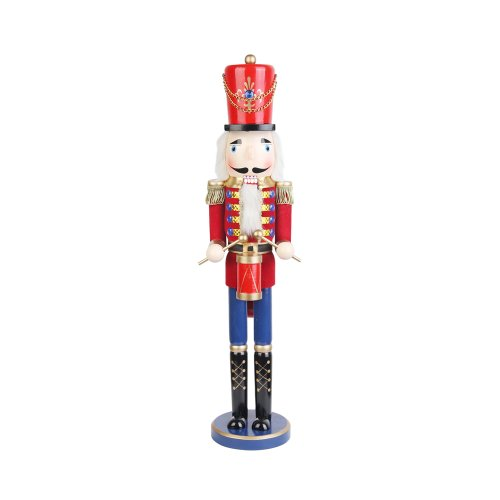 24 Inch Red Nutcracker Drummer Soldier