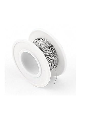 eDealMax Nicromio alambre 80 AWG 0.3mm 29Gauge 82.02ft Rollo 15.42Ohm / m calentador: Amazon.com: Industrial & Scientific