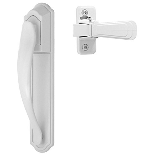 Ideal Security DX Pull Handle Set For Storm and Screen Doors Easy Upgrade White