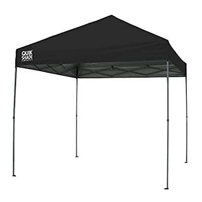 Quik Shade Expedition 10 x 10-Foot Instant Canopy, Straight Leg Outdoor Tent, 100 Square Feet of Shade for 8-12 People - Black