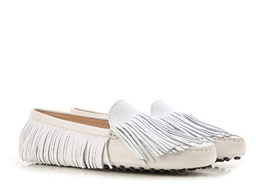 Xxw00g0y720czmb001 Women's Number Moccasins Driving White Model Tod's Suede In Gommino 6Pzdwzqx7