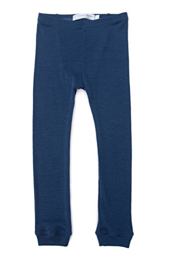 0e6f7ae51 Merino Wool Kids BLUE pajama set. Thermal underwear base layer PJ ...