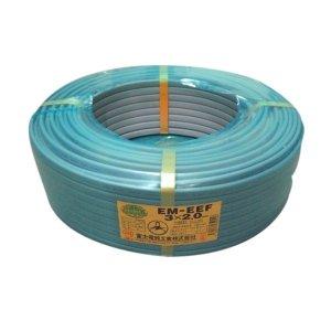 富士電線 エコ電線 低圧配電用ケーブル 3心 2.0mm 100m巻き 灰色 EM-EEF2.0×3C×100m